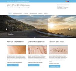 Интернет-страница университетского профессора, доктора Окамото